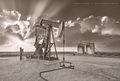 sunset, May, thunderstorm, severe thunderstorm, Permian Basin, cumulus, Denver City Texas, Western Texas, New Mexico, Central Texas, tilt shift lens, stripper well, dry line, dry air, moist air, pump