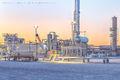 Pecos Texas, gas plant, sunset, Delaware Basin, Permian Basin, detail, gas plant construction, midstream
