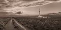 Drilling rig, Delaware Basin, Rain, Thunderstorm, evening, New Mexico, Carlsbad, Artesia, Silver Oak, Rig 1, panorama, high resolution, mural, fine art mural, October, monsoon, black & white, sepia