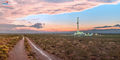 Drilling rig, Delaware Basin, Rain, Thunderstorm, evening, New Mexico, Carlsbad, Artesia, Silver Oak, Rig 1, panorama, high resolution, mural, fine art mural, October, monsoon
