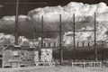 oilfield electrical assets, oilfield battery, thunderstorm, Delaware Basin, Cimarex, Dixie Battery, fine art, sepia, West Texas, Permian Basin