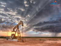 Pioneer Natural Resources, PumpJack, Pump jack, Stanton Texas, Midland Texas, Tornado, Andrews Texas,Thunderstorm, Super Cell Thunderstorm, Wall Cloud