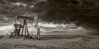 pump jack, pumping unit, pumpjack, oilfield, oilfield art, thunderstorm, dark, sepia, black and white, black & white, New Mexico, Lufkin, Lufkin pumping unit, Lufkin Pumpjack, Lufkin pump jack, Oil &