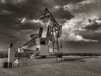 pumpjack, Pump Jack, Stanton Texas, october, sky, Texas