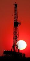 Midland County Texas, Texas, Midland, Midland Texas, sunrise, smoke, drought, drilling rig, red, dawn, Oil and Gas Photo