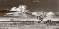 Tatum New Mexico, New Mexico, thunderstorms, pumpjack, super cell thunderstorm, evening, Eastern New Mexico