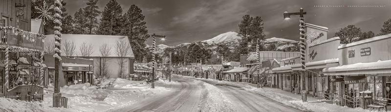 photography, Midtown Ruidoso, panorama, high resolution, night, large format, New Mexico, Northern New Mexico, Southern New Mexico, Central Mountains, Sierra Blanca, Energylandscapes At Topside Galler