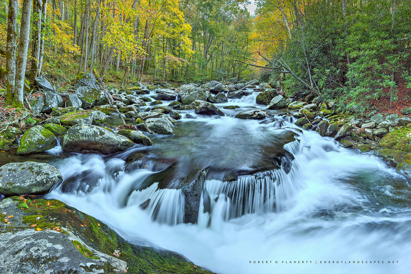 Tremont River, Tennessee, Great Smoky Mountains National Park, Fall leaf change, drought, Gatlinburg, panorama, high resolution, studio gallery Ruidoso New Mexico, art gallery Ruidoso New Mexico, fine