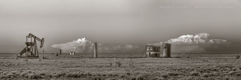 Button Mesa, Texas, New Mexico, Oklahoma, photograph, Fine art photography, thunderstorm, Spring, Chavez County New Mexico, Permian Basin, high resolution, panorama, sepia, black & white, black and wh