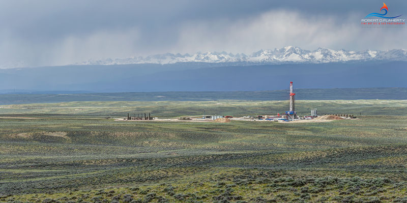 Patterson, Patterson UTI, Patterson Drilling, drilling rig, Wyoming, frac, mural, Oil & Gas Photography, oil & gas photography, oil and gas photography, Spring, Wind River Range, Jona, Jona Field, com