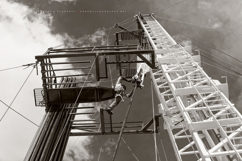 Sepia, Well Servicing Unit, Medium Format, Andrews Texas, Oilfield Art, Oil & Gas Photography