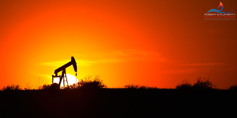 Pumpjack, pump jack, pumping unit, orange, orange sky, summer, sunset, Devon Energy, Oklahoma