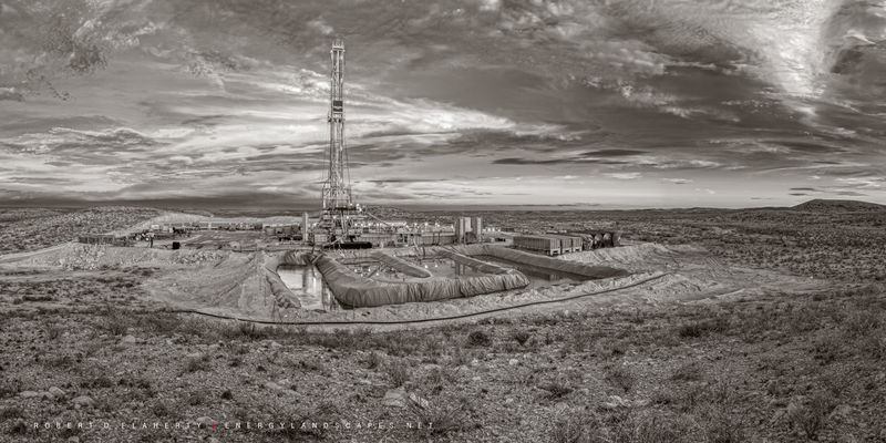 Cactus Drilling, West Texas, Permian Basin, Oil & Gas Photography, Drilling Rig, Cactus Rocket Rig, Sepia, wind break, sharp, lateral, gas well, natural gas, 100 megapixel, Delaware Basin