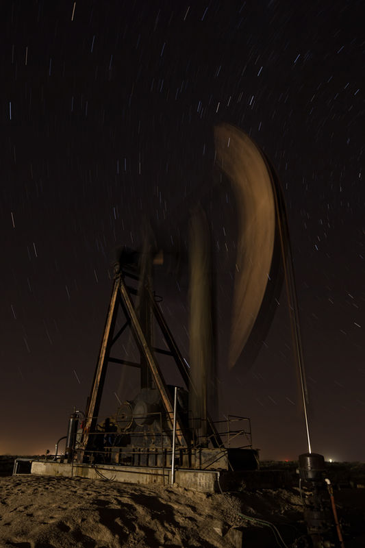 New Mexico, PumpJack, Pump jack, old, night,long exposure,polaris, H&P Drilling, oil and gas photography, Cimarex