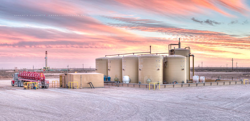 Permian Basin, Peyote SWD, Peyote Water Systems, Precision Drilling, drilling rig, sunset, Winter, mural, fine art print, West Texas, sunset, high resolution, saltwater disposal well, salt water dispo