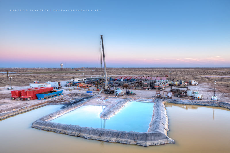 frac, fine art oil & gas photography, oilfield art, Permian Basin, Midland County, Precision Pressure Pumping