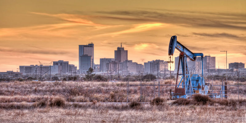 Pumpjack, Midland Texas, fall, sunset