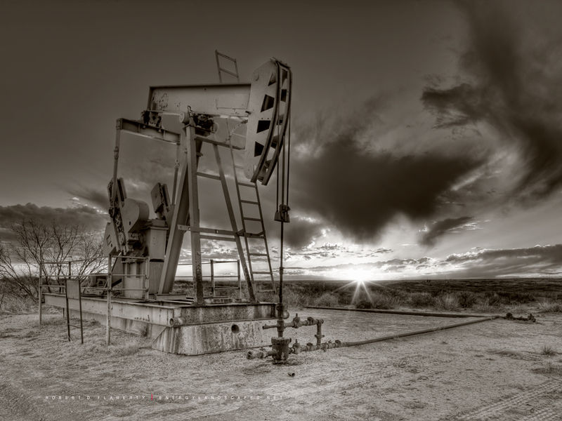 Sepia, Pump Jack, Pumpjack, Concho, New Mexico, Eddy County, Houston, Interior Design