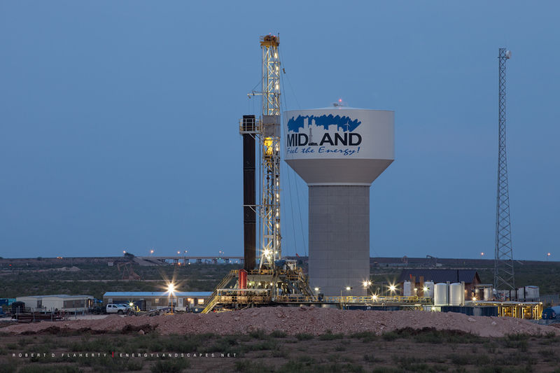 Midland Texas, Feel the energy, logo, water tower, H&P Drilling, Medium Format, Oil & Gas Photography, Permian Basin, City of Midland, Texas, City Of Midland Texas
