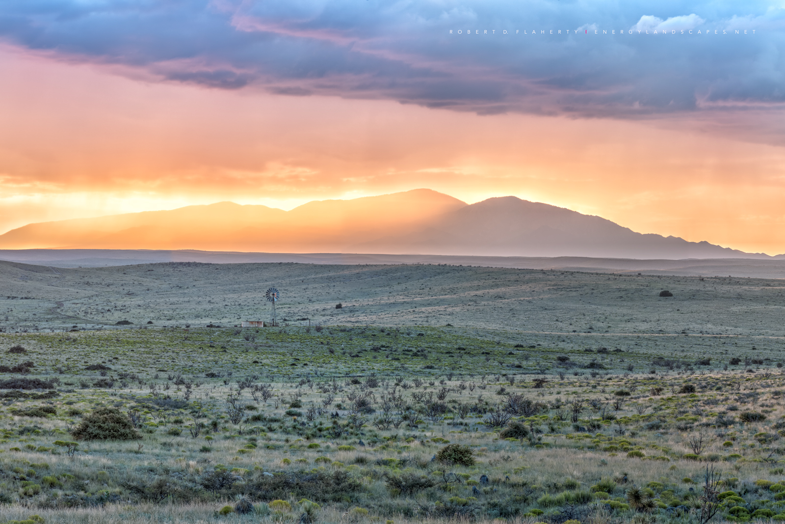 Lincoln County New Mexico, Border Hill, Border Hill windmill, windmill, Monsoon, New Mexico, Ruidoso, New Mexico fine art photography, sunset, Capitan Mountains, Roswell New Mexico, photo
