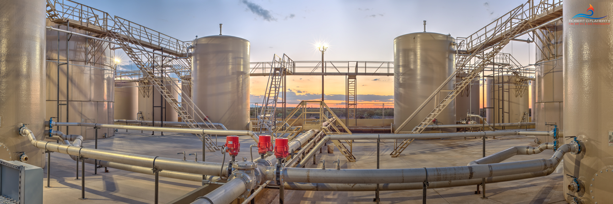 SWD, saltwater disposal unit, Delaware Basin, panorama, Permian Basin, Summer, midstream, Texas, photo