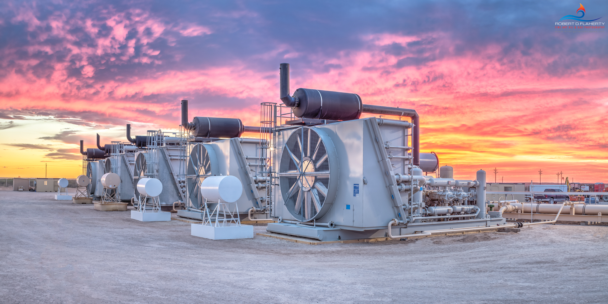 Delaware Basin, sunset, Permian Basin, compressor, compressor Battery, Summer, mural, fine art mural, Texas, West Texas, high resolution , photo
