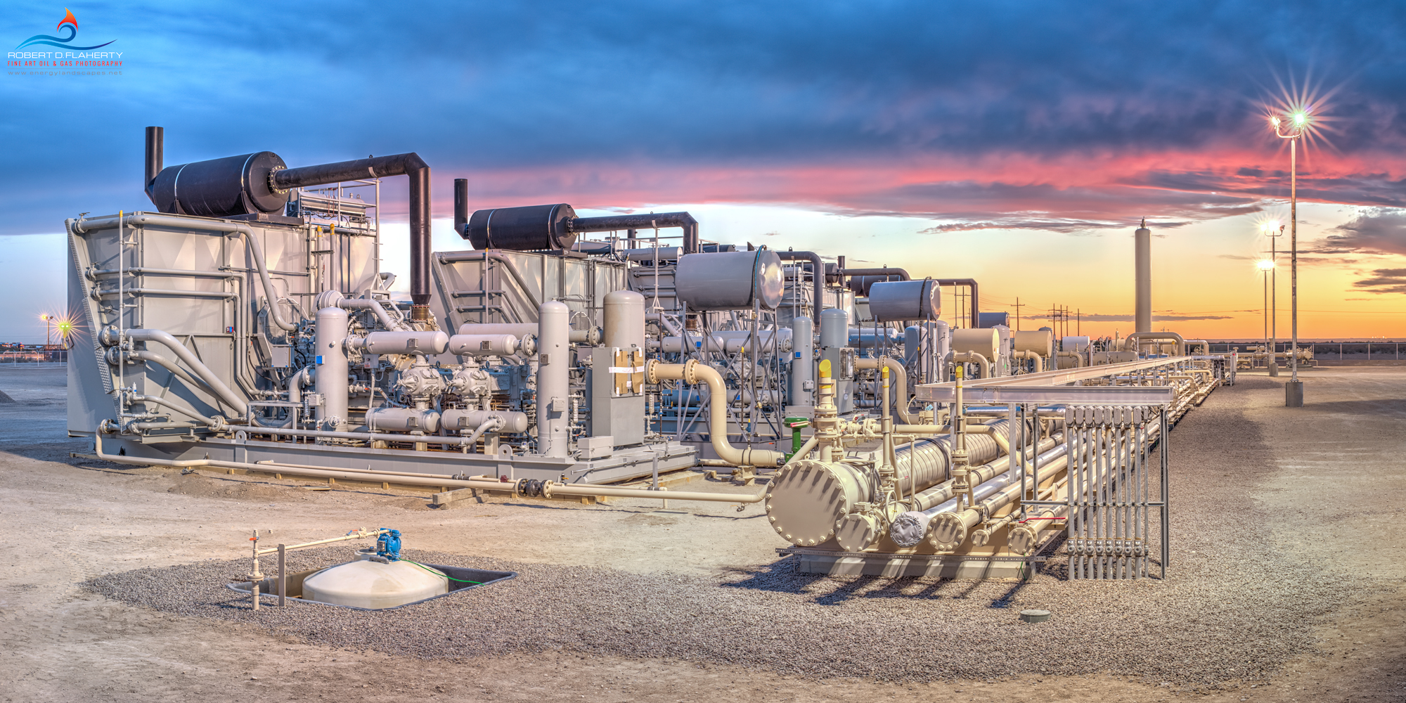 Delaware Compressor Sunset II features a newly completed compressor battery in the central Delaware Basin of Western Texas. The...