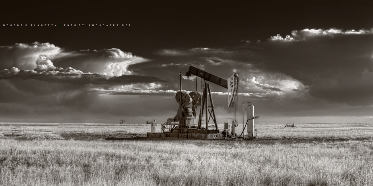 sepia, pumpjack, pump jack, Really Right Stuff, New Mexico, Thunderstorm, Oil & Gas Photography, oil &gas photography, oilfield art, oilfield photography,tripod, photo