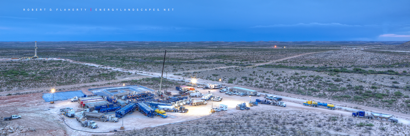 Schlumberger frac, Schlumberger, Delaware Basin, West Texas, Permian Basin, frac, frac job, panoramic, panorama, aerial photography, photo