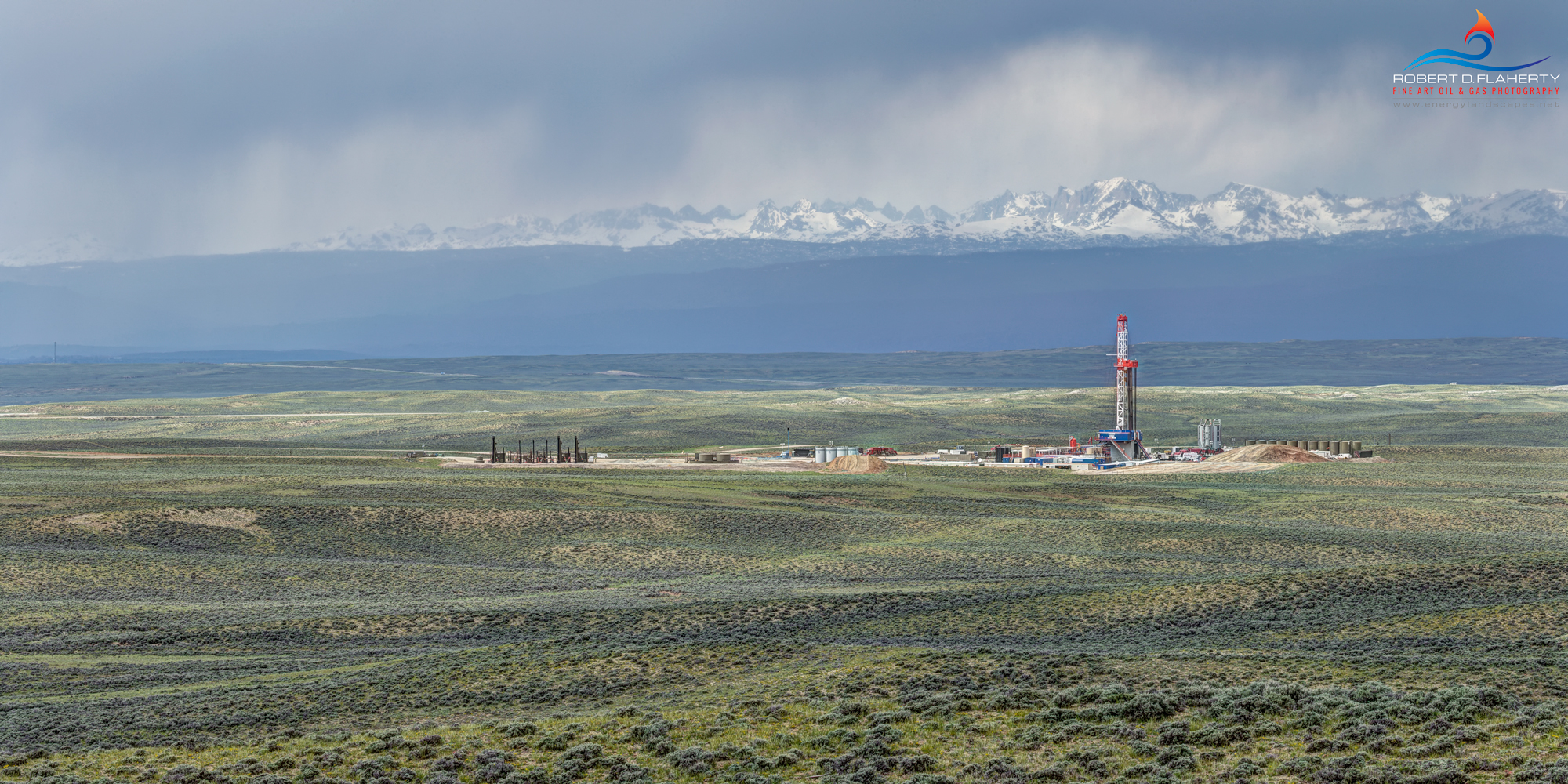 Patterson, Patterson UTI, Patterson Drilling, drilling rig, Wyoming, frac, mural, Oil & Gas Photography, oil & gas photography, oil and gas photography, Spring, Wind River Range, Jona, Jona Field, com, photo