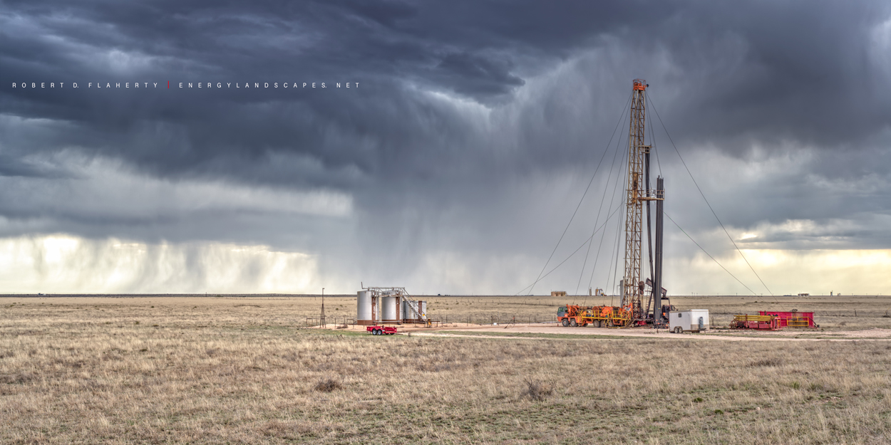 New Mexico, well servicing rig, work over rig, April, production, Spring, photo