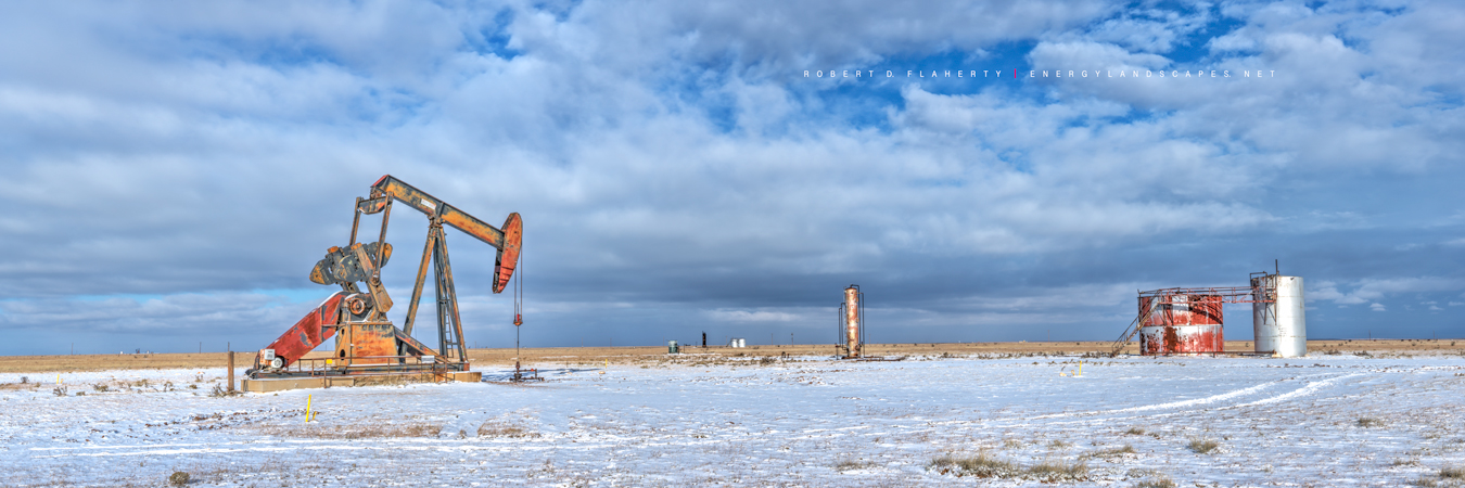 pumpjack, pump jack, Winter, snow, New Mexico, Button Mesa, Permian Basin, Chavez County New Mexico, high resolution, panorama, solitude, Lufkin Pumpjack, Lufkin pump jack, Lufkin pumping unit, photo