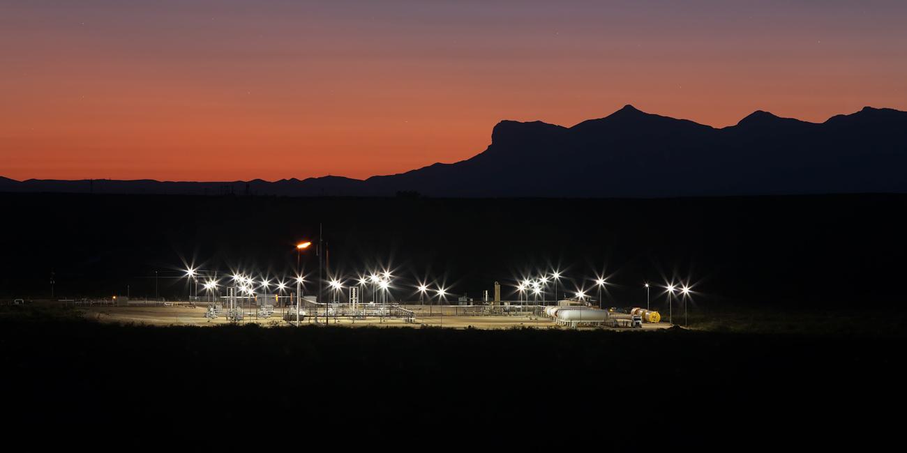 Triple Crown gas plant, Delaware Basin, Cimarex, Texas, Midland, Permian Basin, photo