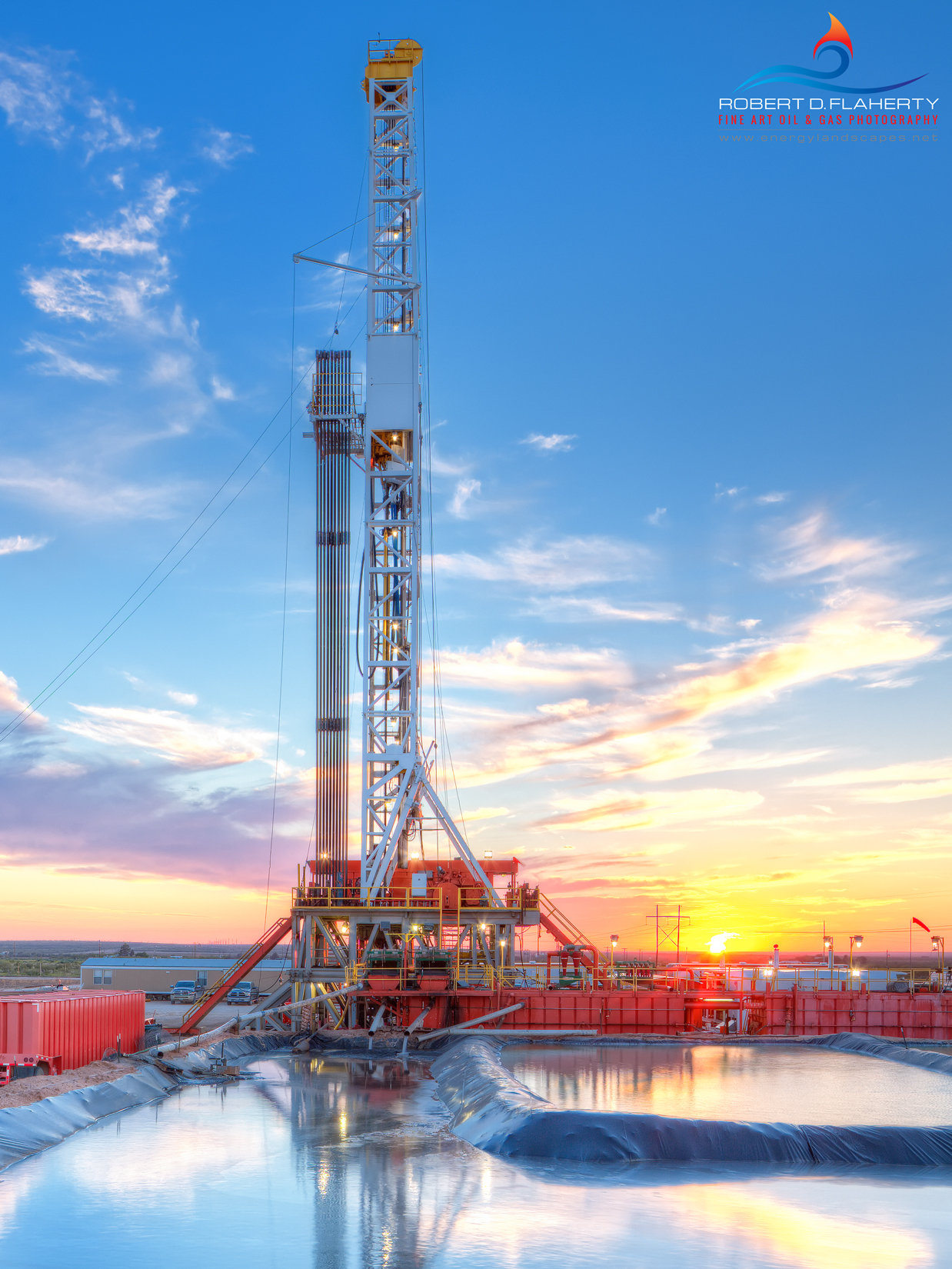 Squire Ranch, Garden City, Texas, Oil & Gas Photography, Drilling Rig, Fine Art, Oilfield Art, Apache Corp., Apache, Basic Energy, Basic Energy Rig 45, American Oil & Gas Reporter, Cover, photo