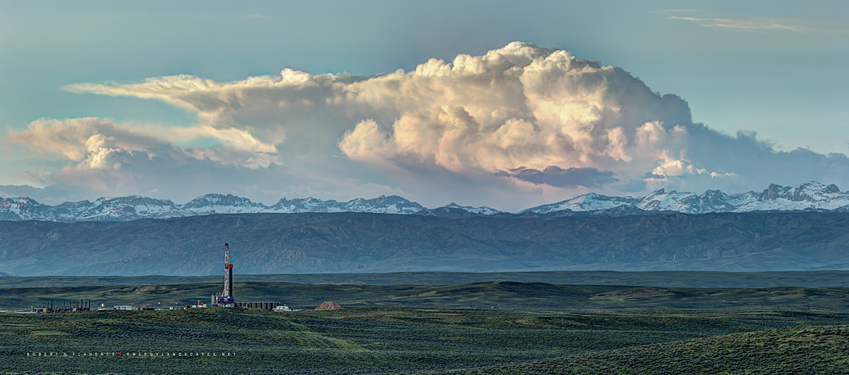 Patterson Drilling, Patterson UTI, drilling rig, Wind River Mountains, oil & gas photography, fine art oil & gas photography, mural, oil, art, oilfield art, Wyoming, panorama, gigapixel, , photo