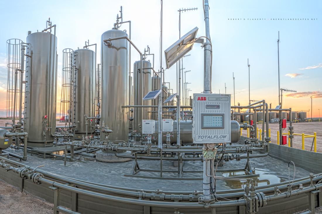 midstream, Delaware Basin, gas gathering, natural gas, Permian Basin, West Texas, high resolution, panorama, ABB, ABB Total Flow, ABB Total Flow Measurement Control Systems, photo
