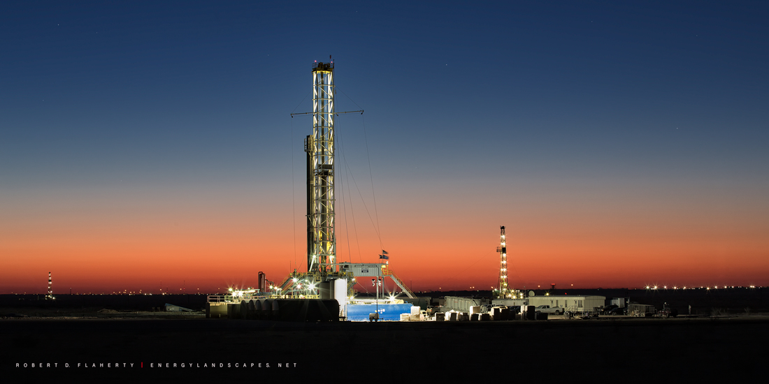 H&P Rig 393, H&P Drilling, Midland Texas, sunrise, medium format, high resolution, Permian Basin, Texas, photo