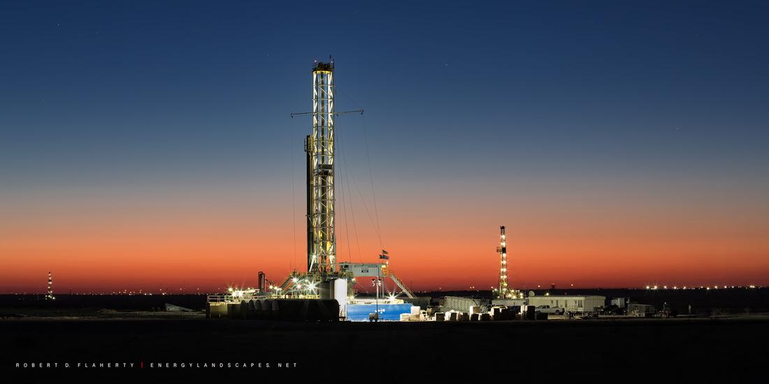 H&P Rig 393, H&P Drilling, Midland Texas, sunrise, medium format, high resolution, Permian Basin, Texas, photo
