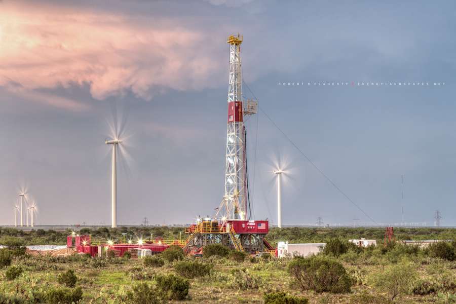 Viking Drilling, Viking Rig 6, Rain, drilling rig, Big Spring Texas, high resolution, sunset, thunderstorm, oilfield art, oilfield photography, photo