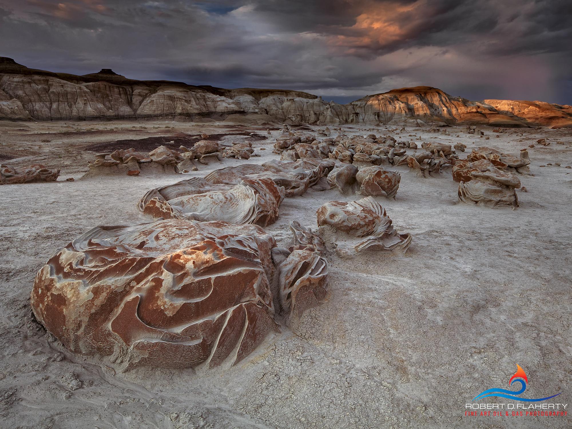 New Mexico fine art landscape photography, monsoon, New Mexico, Bisti Wilderness, sunrise, Ruidoso, Inland sea, photo