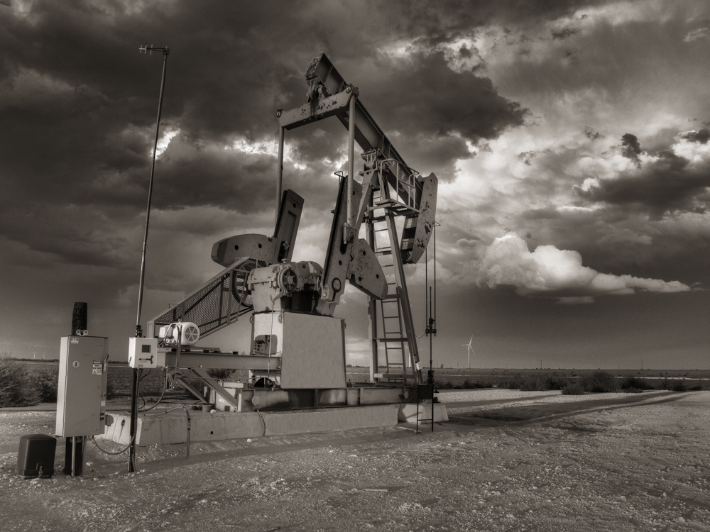 pumpjack, Pump Jack, Stanton Texas, october, sky, Texas, photo