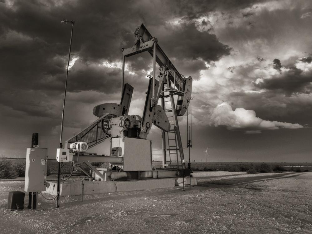 pumpjack, Pump Jack, Stanton Texas, october, sky, Texas, photo