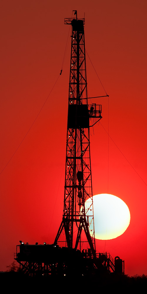 Midland County Texas, Texas, Midland, Midland Texas, sunrise, smoke, drought, drilling rig, red, dawn, Oil and Gas Photo, photo