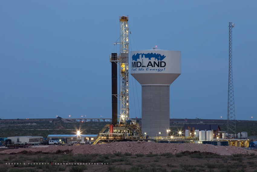 Midland Texas, Feel the energy, logo, water tower, H&P Drilling, Medium Format, Oil & Gas Photography, Permian Basin, City of Midland, Texas, City Of Midland Texas, photo